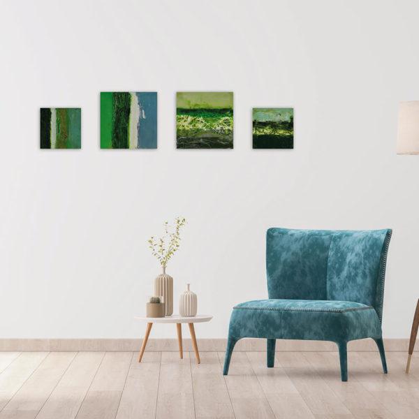 Regenbogen – Freshly Mown Gras - Enkaustik