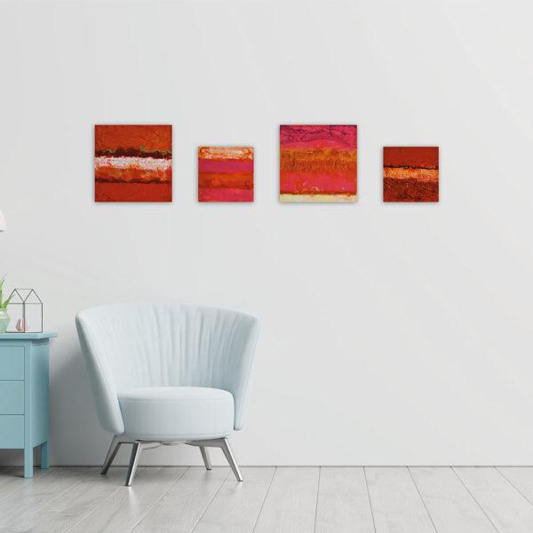 Regenbogen – Red Poppies - Enkaustik